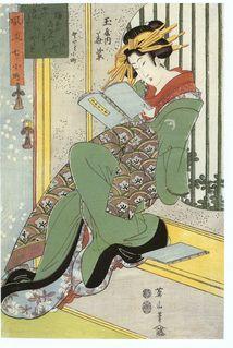 Kikugawa Eizan ( Japão 1787-1867)  Xilogravura