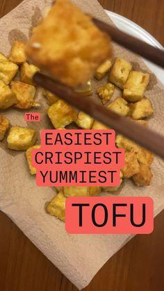 Best Tofu Recipes, Vegan Dinner Recipes, Veggie Recipes, My Recipes, Recipies, Vegetarian Meals For Kids, Vegetarian Recipes, Extra Firm Tofu, Non Stick Pan