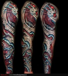 Biomechanical Tattoos, Designs And Ideas : Page 33