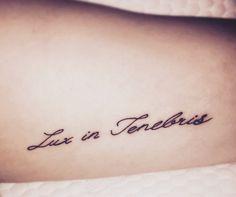 New tattoo i got today lux in tenebris latin for for Lux in tenebris tattoo
