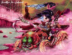 Jeffrey Thomas Reveals Disney Princesses' Evil Sides in Eerie Illustrations