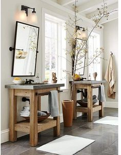 Love this! #bathroom #bathroomvanity #masterbathroom #masterbedroom #ad #vanity #potterybarn