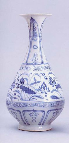 Bottle with Lotus Pond  Period:     Yuan dynasty (1271–1368) Date:     mid-14th century Culture:     China