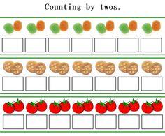 skip counting by twos, skip count by kindergarten worksheets, free kindergarten games Homeschool Kindergarten, Teaching Math, Maths, Homeschooling, Math Lesson Plans, Math Lessons, Math Worksheets, Math Resources, Math Games