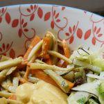 Klette in einer veganen Bowl