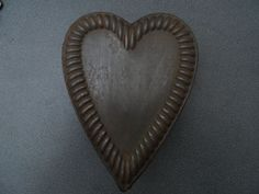 * HEART CHOCOLATE MOLD MOULD SCHOKOLADENFORM MOLDS VINTAGE ANTIQUE