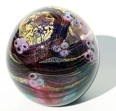 Glass Paperweights for Collectors | stock cased glass paperweight code cased watergarden glass paperweight ...