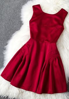 Red dress for the holidays. Red Christmas dress.