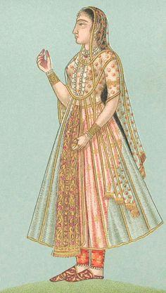 Mughal lady (Bibliothèque de Ambroise Firman-Didot)