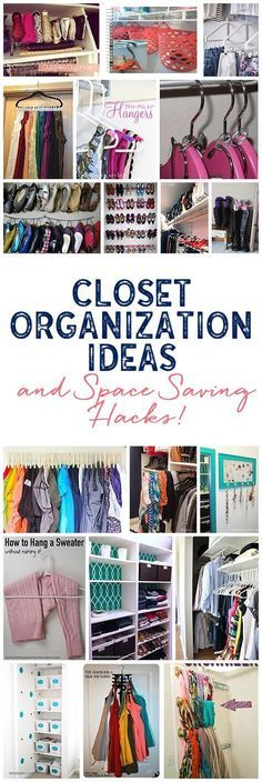 A ton of awesome closet organization ideas to make all of your closets functional and a joy to look at! Whip those closets into shape!