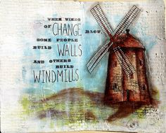 JIJI Cards - Art Journal Page 7: Windmill