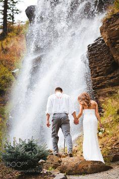 Wedding waterfall by JoshMartinez3