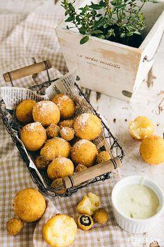 Croquetas de arroz rellenas con dos quesos | Cukmi Food Bloggers