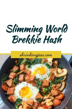 This delicious brekkie hash will keep you full until lunch! Completely syn free and filling you really can't go wrong with this one! Vegetarian Breakfast, Healthy Breakfast Recipes, Slimming World Breakfast, Syn Free, Cherry Tomatoes, Brunch, Food And Drink, Meals, Cooking