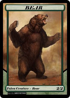 Extended Token style  - 2/2 BEAR 1.0 - Magic Origins, MTG, altered, Commander by cardco11ector65 on Etsy