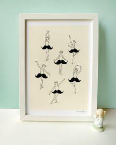 Dancing mustache.