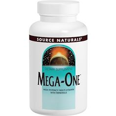 Source Naturals, Mega-One, High Potency Multi-Vitamin with Minerals, 60 Tablets - iHerb.com