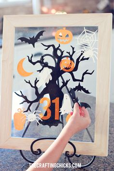 Halloween Advent with Window Cling