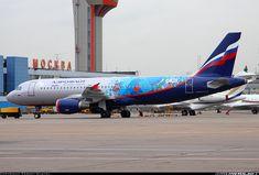 "Aeroflot ""Sochi 2014 Olympics Airbus A320-214 @ SVO"