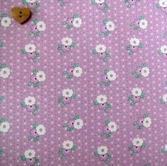 Exclusively Quilters ~ 1930's Classics ~ Small Flowers & Spots on Lilac