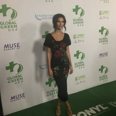Actress and model Emily Ratajkowsky on the green carpet, made by Aquafil's sustainable ECONYL® nylon and manufactured by Milliken, at the Green Pre-Oscar® Party.
