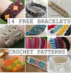 14 Bracelets Crochet Patterns