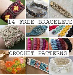 Happiness Crafty: 14 FREE Bracelets Crochet Patterns