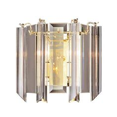 RV - Two-Light Polished Brass Wall Sconce