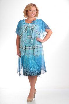 Платье Pretty   Оригинальное и очень женственное платье, способное стать настоящим украшением, как романтического вечера, так и торжественного мероприятия. Модель свободного покроя с шифоновой пелериной, закрепленной спереди и на спинке в горловине, переходящей в отлетные передние детали, создают эффект летящей лёгкости. Глубокий вырез горловины спереди украшен шарфом, протянутым сквозь шлевки из бус и цветком ручной работы.
