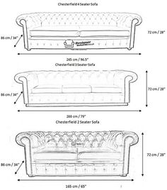 Chesterfield Dimensions