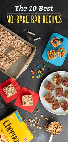 Turn your favorite cereal into a no-bake bar! Make a batch this weekend and you'll have them on hand for a quick breakfast or after-school snack all week long. Trust us, the kiddos will love these recipes!