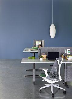 Hermann Miller, Workplace Design, Office Desk, Furniture Design, Home Decor, Desk Office, Decoration Home, Desk, Room Decor