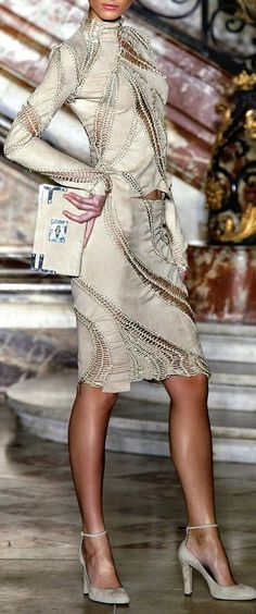 Givenchy- could make version with lined crocheted panels