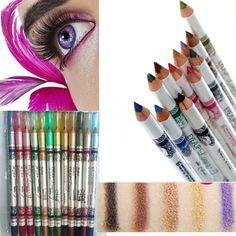 Multicolor Eye Liner Pencil Set Cosmetic Eyeliner Pencil Not Dizzy Waterproof Liquid Eyeliner Pen