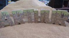 Letra 3d Minecraft Silhouette Cameo - R$ 8,00 em Mercado Livre