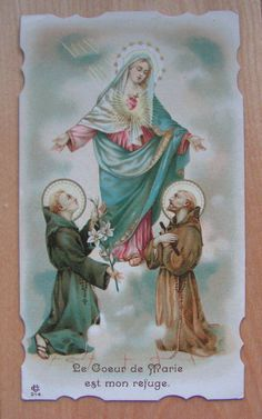 Sts Dominic & Francis at the feet of Mary