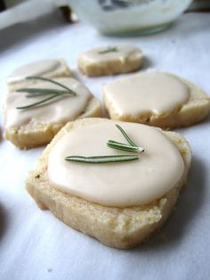 Gluten Free Meyer Lemon and Rosemary Icebox Cookies. #vegan