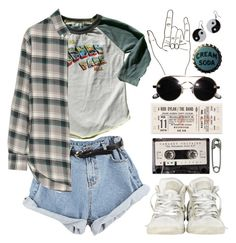 """""""It's Still Rock 'N Roll To Me"""" by scissorsisters ❤ liked on Polyvore featuring YIN, Converse, Rowdy Sprout, Tim Holtz and Band of Outsiders"""