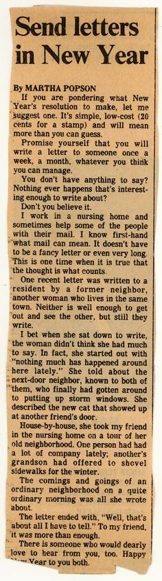 This article was found by Carolee from Good Mail Day. It was published in right when I was just starting to write letters and find my first pen pals. It's a good reminder that the letters, postcards, or any. Fun Mail, You've Got Mail, Going Postal, Envelope Art, Handwritten Letters, Cool Lettering, Pocket Letters, Happy Mail, Letter Writing