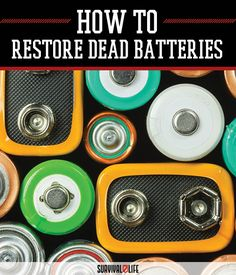 How to recondition batteries free how to restore gel batteries,battery reconditioning lithium ion battery repair ubuntu,recovery type coke oven battery ways to revive a car battery. Urban Survival, Survival Life, Survival Tools, Camping Survival, Outdoor Survival, Survival Prepping, Emergency Preparedness, Outdoor Camping, Survival Equipment
