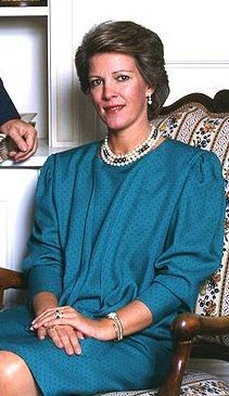 Queen Anne-Marie of Greece (born 1946). Daughter of Frederick IX and Ingrid of Sweden. She married Constantine II of Greece and had five children.