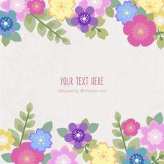 Cartão Flores de Primavera Vetor grátis