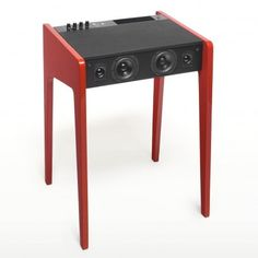 Laptop table - Bright Red piano lacquer.