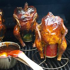 """Beer Can Chicken...""""Why did the chicken cross the road?  He forgot his beer"""""""