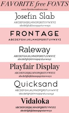 Favorite free fonts for the blogger, the boss lady, the entrepreneur