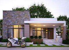 Modern Bungalow House Design, Modern Exterior House Designs, Modern Architecture Design, House Front Design, Dream House Exterior, Small House Design, Philippines House Design, Modern Minimalist House, House Construction Plan