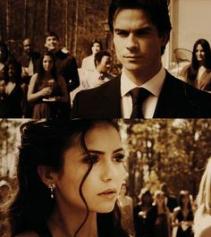 Vampire Diaries - My favorite scene. Damon and Elena dancing at the Miss Mystic Falls pageant (Although I like her better with Stefan. Serie The Vampire Diaries, Vampire Diaries Damon, Vampire Dairies, Vampire Diaries The Originals, Delena Gif, Elena Damon, Ian And Nina, Movie Couples, Mystic Falls