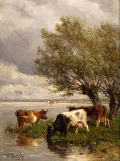 Willem Roelofs dutch 19th C.