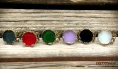 Bronze Vintage Style Rings  Choose your colour! https://www.facebook.com/peppermint.jewels