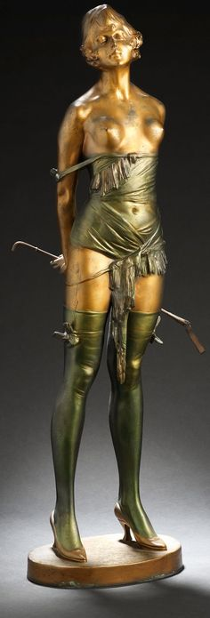 Bruno Zach's 'Riding Crop Girl' (1930), sold at Bonhams in London for a staggering and record-breaking £97,250.